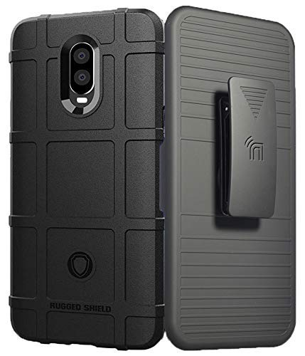 OnePlus 6T Case with Clip, Nakedcellphone [Black] Special Ops Tactical  Armor Rugged Shield Cover [Anti-Fingerprint, Matte Textured] + Belt Hip  Holster