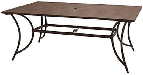 Patio Master alh43512 K01 Bellevue Patio colección slat-top mesa ...