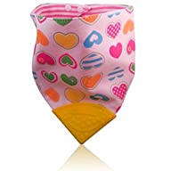 Reversable Hearts/Pink Stripes Soft Cotton Baby Teething Bandana, Teething Bib, Drool Bib