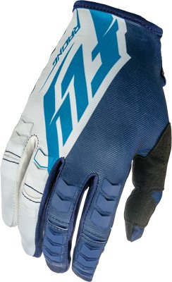 Fly Racing Unisex-Adult Kinetic Gloves Blue/White/Navy Size 12