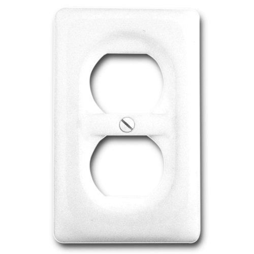 Amerelle 3020DW Classic Ceramic Wall Plate 1 Duplex Outlet,