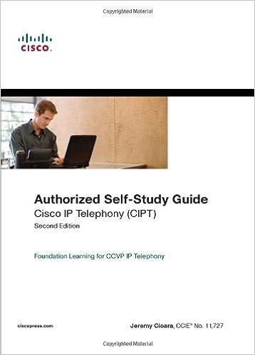 Authorized Self-study Guide Cisco Ip Telephony Cipt