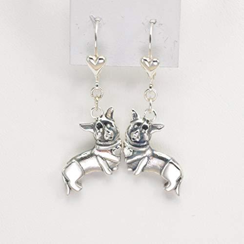 (Sterling Silver Cardigan Welsh Corgi Earrings, Silver Corgi Earrings fr Donna Pizarro's Animal Whimsey)