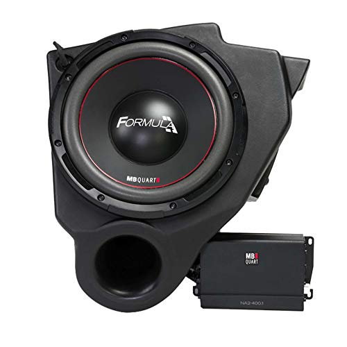 MB QUART 10″ 400w Under-Dash Subwoofer+Amp For 2013-2018 Polaris RZR XP/XP4 1000