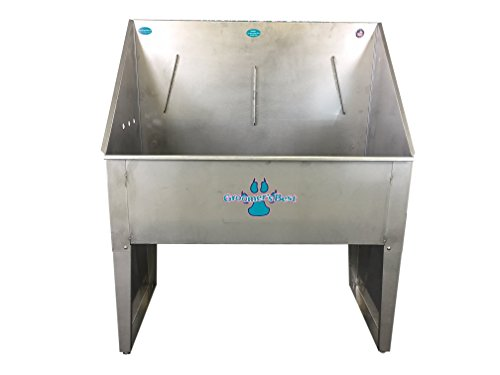 Groomer's Best Standard Bathing Tub with Left Plumbing, 36-Inch