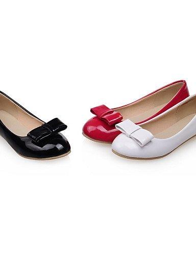 Cn35 de casual Negro blanco 5 Zapatos Pdx al Comodidad Mujer Talón vestido Redonda rojo Eu36 Plano Uk3 Flats punta us5 5 De Aire Boda Libre Red 4qwZwad