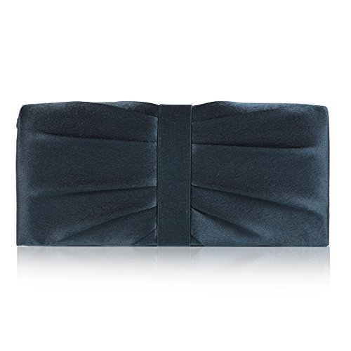 Damara Womens blue Party Evening Dainty Navy Contrast Bag in Pleat FH1rFwqxC