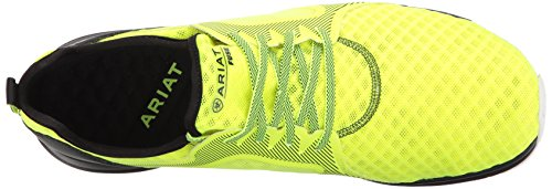 Mens Ariat Mens Fuse Shoe, Ferro Forgiato, 10 D Us Neon Mesh Giallo