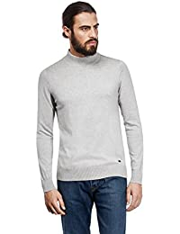 Men's Sweater Ribbed Turtle-Neck Slim-fit