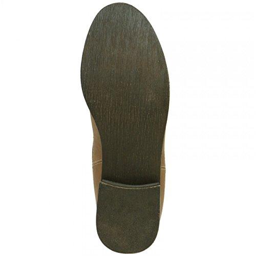 CASPAR SBO025 Damen klassische Chelsea Boots Stiefeletten, Farbe:taupe;Größe:EU38/UK5/US7