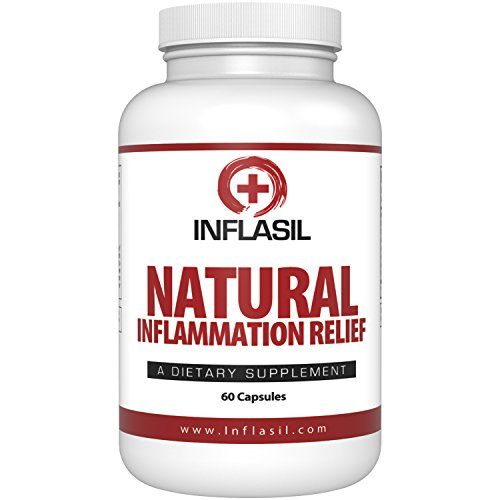 Inflasil Inflammatory And Joint Pain Relief Formula, Natural and Effective Anti Inflammation Supplement Available for Acute or Chronic Inflammation And Joint Pain Supplement (60 Capsules)