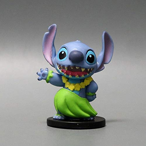PAPRING Lilo Toy 2 inch Stitch Hawaii PVC Action Figure Movie Small Figures Hot Model Mini Gift Christmas Halloween Birthday Gift Cute Doll Animal New Decoration Collection Collectible for Kids Adults]()