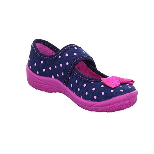 527 Ballerina Kinder Blau Hausschuh Fischer 462945 pink Marine wqXvzx7p