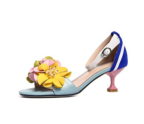 per Flowers Sandals Fashion Fibbia High Heel Picture Cintura Open Outdoor As Shoes Ladies Ballo Summer Shopping Toe Scarpe comode The da C8nx5fPw