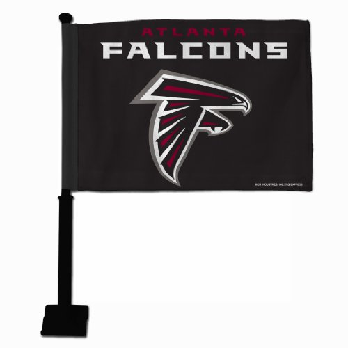 Rico NFL Atlanta Falcons Car Flag with Black Pole