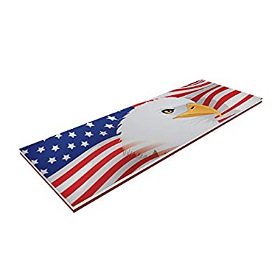 Floatation iQ Floating Oasis 15 x 6 Foot Foam Island Water Pool Lake Lounger Play Pad Mat, American Flag: Sports & Outdoors