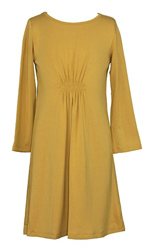 Ms Purple Girls' Cinched Waist Jersey Dress Medium ()