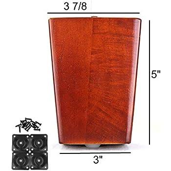 Amazon.com: moremotion patas de muebles, Madera Noble ...