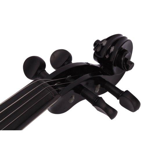 Lovinland 4/4 Acoustic Violin Beginner Violin Full Size with Case Bow Rosin Black by Lovinland (Image #4)