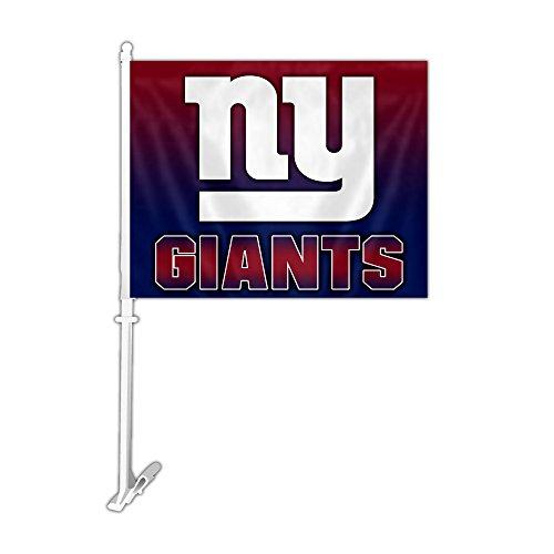 (NFL New York Giants Car Flag with Wall Bracket, Team Color )
