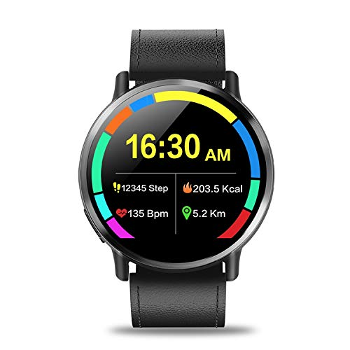 4G Smart Watch Android 7.1 with 8MP Camera GPS 2.03 inch Screen 900Mah Battery Sport Business Strap for Men,Black,Spain