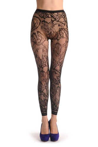 Lisskiss Womens Flowers Footless Pantyhose product image