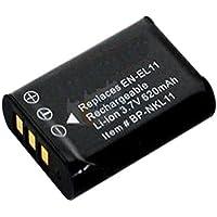 Amsahr Grade A de Celdas de batería (1000mAh, 3.7V) para Nikon EN-EL11Gris