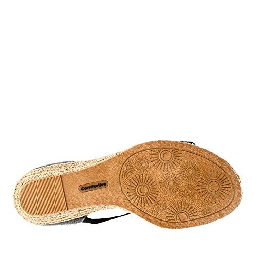 Comfortiva Brye Espadrille Sandals Black 9 W, Black