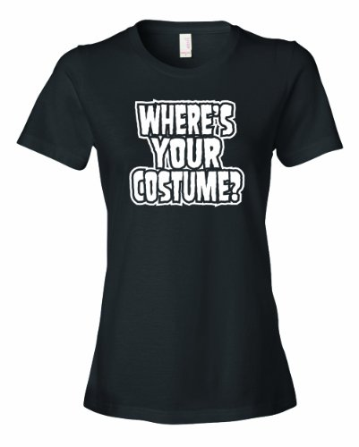 Fourth Doctor Costume Shirt (Ladies Where Is Your Costume. Funny Halloween Joke Gag T-Shirt-Black-2X)