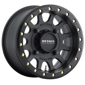 4/156 Method Race Wheels 401 Beadlock Wheel 14x7 5.0 + 2.0 Matte Black for Polaris RANGER RZR XP 1000 2014-2018