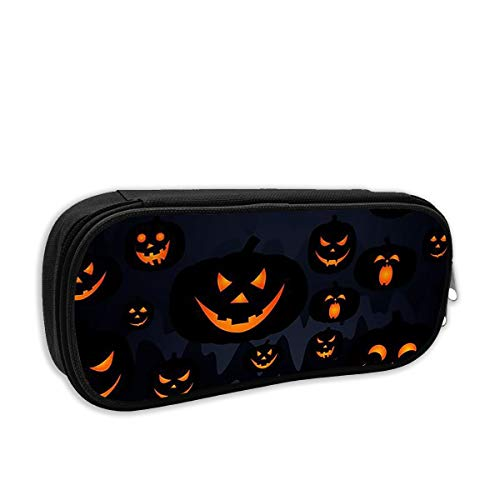 Pencil Case - Halloween Jack O Lantern Pencil Pouch Stationery Organizer Multifunction Cosmetic Makeup Bag Perfect Holder for Pencils and -