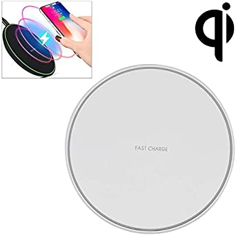 Samsung Galaxy Note 10//S10//S9//S8 Wireless Charger,Qi-Certified 10W Max Fast Wireless Charging Pad Compatible with iPhone 11//11 Pro//11 Pro Max//XS MAX//XR//XS//X//8 AirPods Pro White