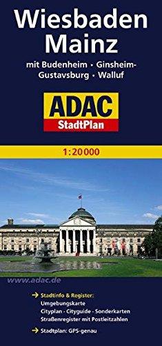 Mainz, Wiesbaden, GPS-genau (ADAC Stadtpläne) Landkarte – Folded Map, 1. November 2008 Collectif ADAC Verlag 3826405692 Karten