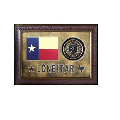 Lonestar Texas Flag and Seal Framed Art Work Rustic Western Wall Decor Review