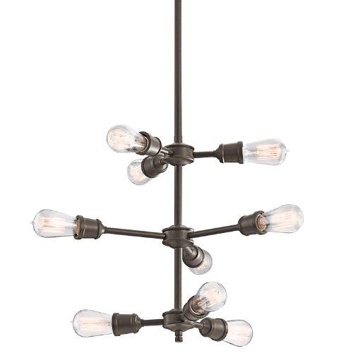 Kichler 42257OZ Lucien Chandelier 9-Light, Olde Bronze -