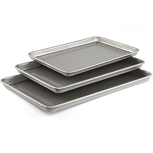 - Emeril Lagasse 62671 Aluminized Steel Nonstick 3-Piece Cookie Sheet