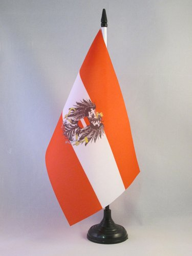 AZ FLAG Bandera de Mesa de Austria con Aguila 21x14cm - BANDERINA ...