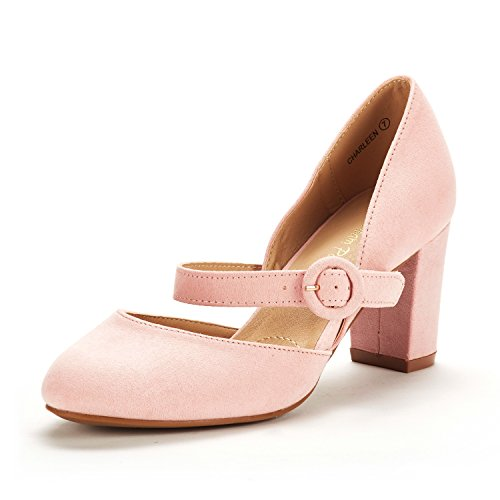 DREAM PAIRS Women's Charleen Pink Classic Fashion Closed Toe High Heel Dress Pumps Shoes Size 8 M US ()