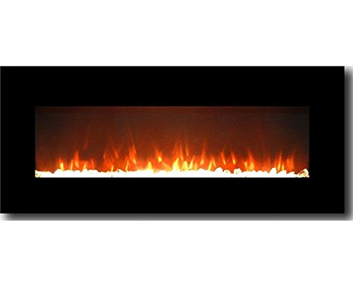 Gibson Living GL5050CE Lawrence 50 Inch Crystal Electric Wall Mounted Fireplace - Hung Gel Fireplace