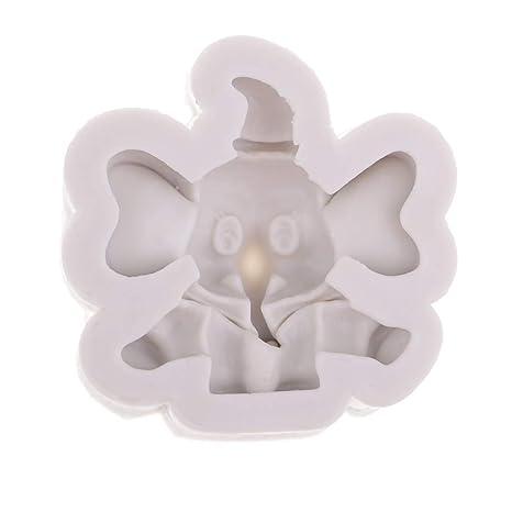 P Prettyia Forma de Elefante Silicona DIY Moldes para Pastel de Resina Que Hace Instrumento de