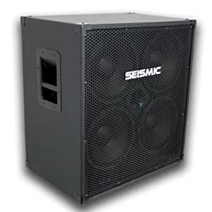 seismic audio 410 bass guitar speaker cabinet with horn and volume control pa dj. Black Bedroom Furniture Sets. Home Design Ideas