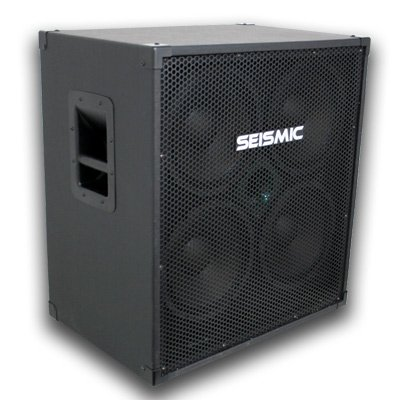Seismic Audio - 410 Bass Guitar Speaker Cabinet with Horn and Volume Control PA DJ 400 Watts 4x10 4 10 by Seismic Audio