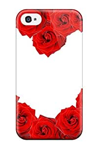 Pretty XrJGyeV9263bmHtx Iphone 4/4s Case Cover/ Red Roses & Love Heart Series High Quality Case