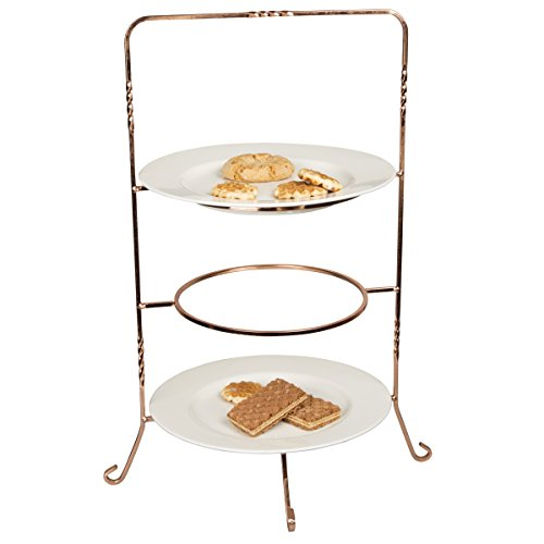 Creative Home Renaissance 3 Tier Dinner Rack, Copper
