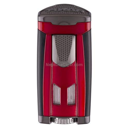 HP3 Inline Triple Flame Cigar Lighter in an Attractive Gift Box Lifetime Warranty Daytona Red by Xikar (Image #2)