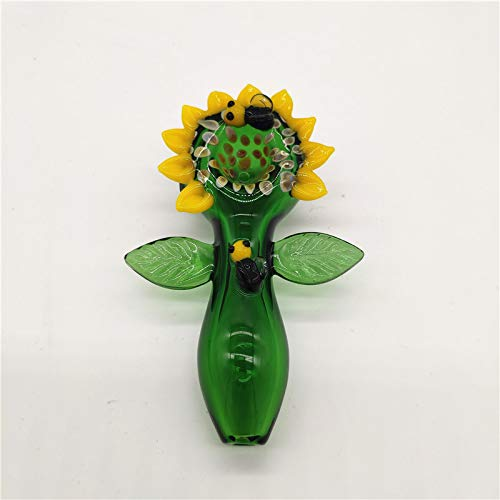 - Aduben 4'' Length Beautiful Sun Flower Alass Artwork Green