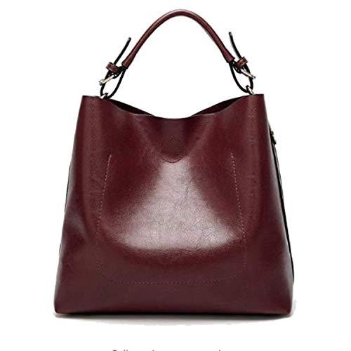 Womens Hobo Bag Durable Leather Purse & Tote Messenger Bag Shoulder Handbag Crossbody Bags for Ladies (Burgundy)]()