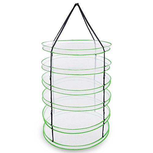 "Durable 93"" x 36"" Dia. 6 Layer Detachable Plant Drying Rack"