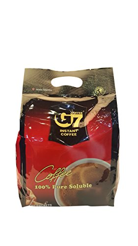 G7 Black Instant Vietnamese Coffee 7.05oz(200g), 100 Sticks