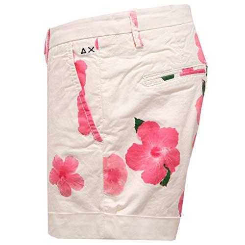 Jeans Donna 68 rosa Corto Sun 2623x Pantalone Pant Short Woman Bianco pf0dPWO